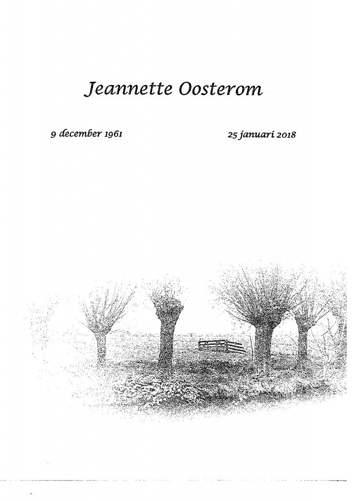 Overlijdenskaart Jeannette Oosterom-1